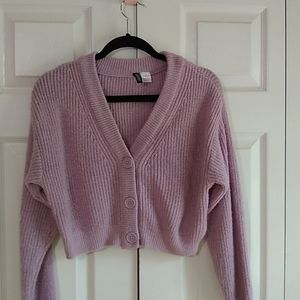 HM Divided crop sweater size x small light purple